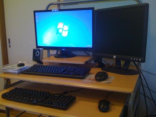 デスクトップパソコン設置。初期セットアップ