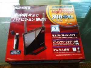 BUFFALO WHR-HP-G300N/U 無線ルータ設置設定