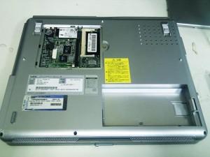 NEC Lavie ll750/2 256MBから512MBへメモリ増設