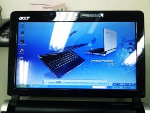 Acer Aspire one D250 Windows XP リカバリ