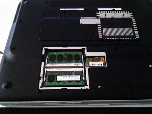 SONY type N VGN-NR50B メモリ1GBから2GBへアップグレード