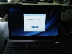 ASUS K53E ノートパソコン。購入後の初期セットアップ・周辺機器設定。広島市安佐南区のお客様