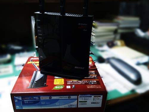 BUFFALO WZR-HP-G450H初期セットアップ。データ移行作業