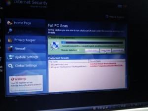 偽セキュリティソフト Internet Security 駆除作業