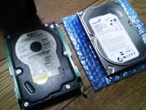 長期間使用したハードディスク交換とクローン作業