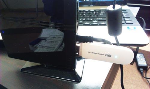 Logitec LAN-W300N3L EMOBILEデータ通信でのインターネット接続設定