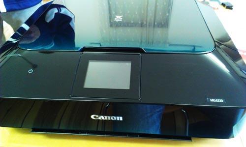 Canon MG6330 プリンタ。Wi-Fi印刷設定。