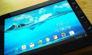 Androidタブレット、無線LAN接続設定、Googleアカウント設定などなど。