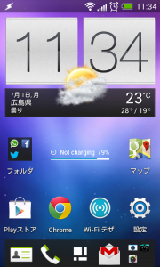 HTC Desire X カスタムROM「myONEdx RC4.0 FX+」ICS