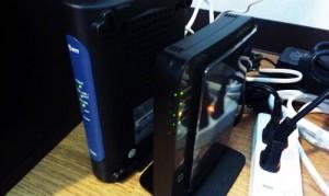パソコン購入後の初期設定、無線ルータ設置とインターネット設定。