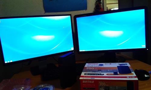 DELL デスクトップPCセットアップとBUFFALO無線ルータ交換。