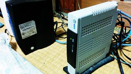 パソコン2台の内、1台がインターネットに繋がらない。
