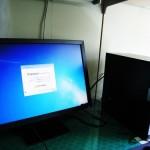 新しく購入されたデスクトップパソコン設置設定。広島市安佐北区のお客様