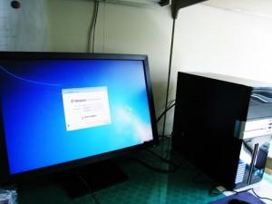 デスクトップパソコン設置設定