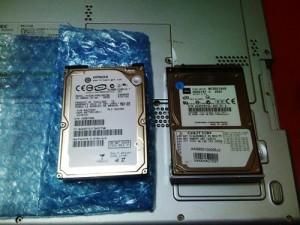 Sotec WinBook WA2220C4B ハードディスク交換・メモリ増設・無線LAN設定