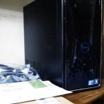 DELL Inspiron 580 デスクトップパソコン。購入後の設置・初期設定。広島市安佐北区のお客様