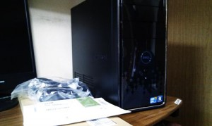 DELL Inspiron 580 デスクトップパソコン。購入後の設置・初期設定