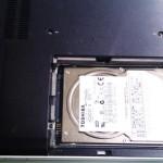 SONY VAIO type F VGN-FE53HB/W (pcg-7v1n) ハードディスク交換。広島市中区のお客様