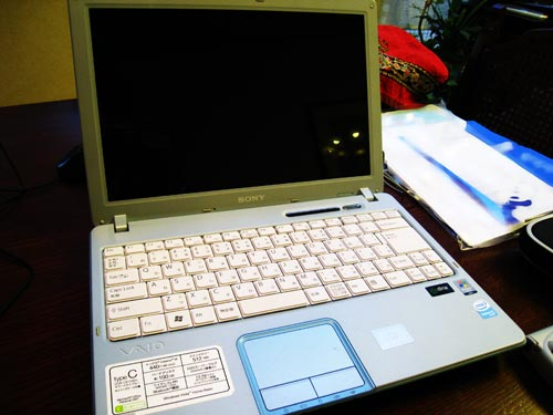 ONY VAIO type C VGN-C61HB ハードディスク取り出し。誤って削除されたファイルの復元