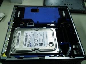 DELL Optiplex 755 ハードディスク交換。OSリカバリ。