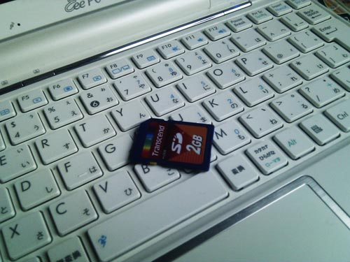 誤って削除したSDカード内の写真データ復元