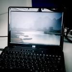 新規導入されたノートパソコンの初期セットアップ。広島市西区のお客様