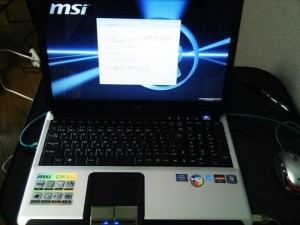 MSI CR610 初期セットアップ。周辺機器設定