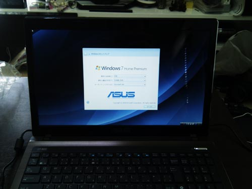 ASUS K53E ノートパソコン。購入後の初期セットアップ・周辺機器設定。広島市安佐南区のお客様