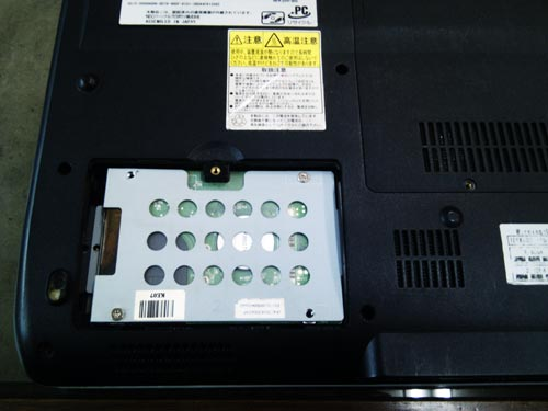 既存HDD内のデータをそのままに、HDD交換作業
