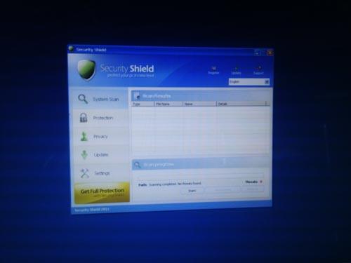 偽セキュリティソフト Security Shield 駆除