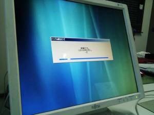 富士通デスクトップPCのリカバリ作業