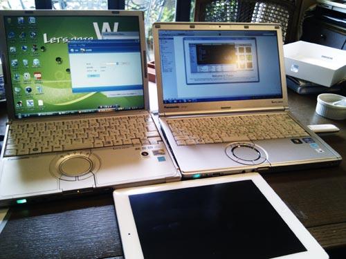 パソコン購入後のデータ移行。iPad購入後の初期セットアップ