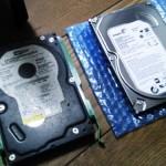 長期間使用したハードディスク交換とデータ移行作業(クローン化)。広島市安佐北区へ訪問サポート