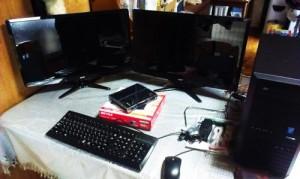 パソコン設置設定、初期セットアップ、無線ルータセットアップ。