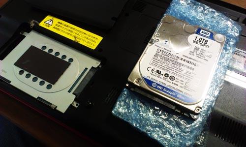HDD320GBから1TBへ交換。肝心のリカバリができない。