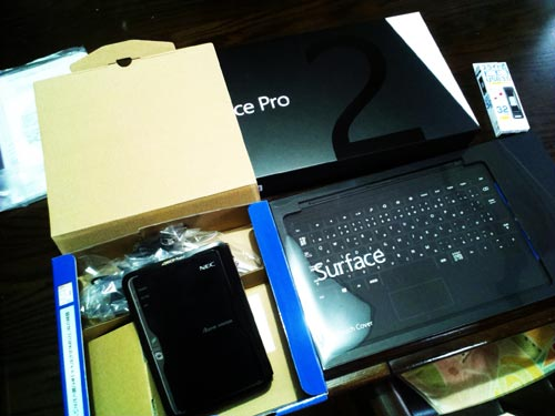 Surface Pro 2 初期セットアップとリカバリデータ作成。Aterm WR9300N セットアップ。