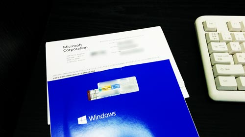 OSアップグレード。Windows XPからWindows 7へ。