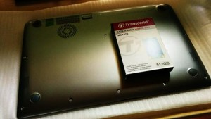TOSHIBA KIRA V63 128GBから512GBへSSD交換。