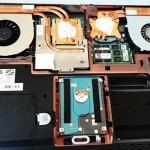 P170EM ノートPCの内部クリーニング。