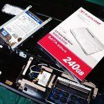 AcerノートPCのHDD破損。SSDへ交換。