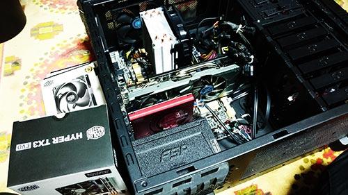 BTOパソコン CPUファン、ケースファン交換