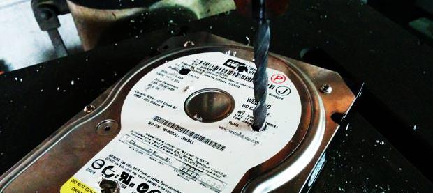 HDD処分サービス(物理破壊)