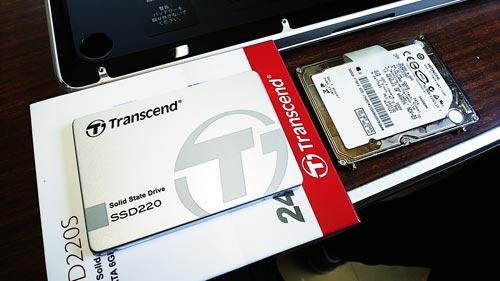 MacBook Pro HDDからSSDへ換装