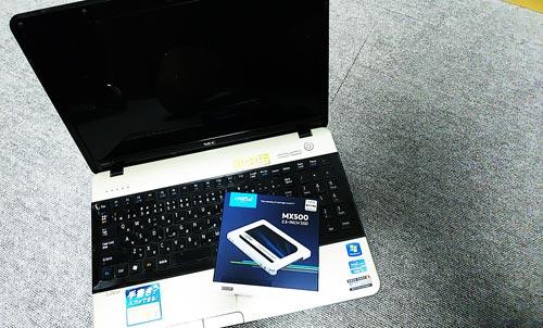 NEC LS550/E HDDからSSDへ換装
