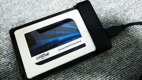 Crucial SSD MX500 クローン化