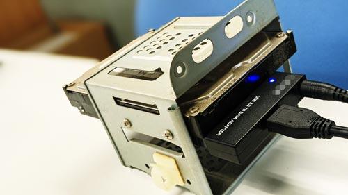 USB変換ハードディスク